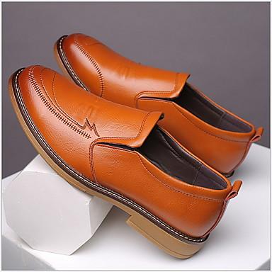 Férfi Kényelmes cipők Bőr Ősz & tél Papucsok & Balerinacipők Fekete / Sárga