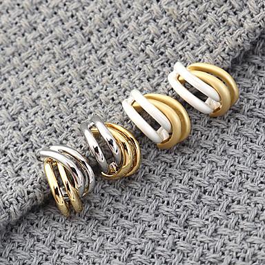 levne Dámské šperky-Dámské Peckové náušnice Náušnice Klasika Twist Circle stylové Jednoduchý Evropský Náušnice Šperky Bílá / Stříbrná Pro Párty Dar Denní Dovolená Práce 1 Pair