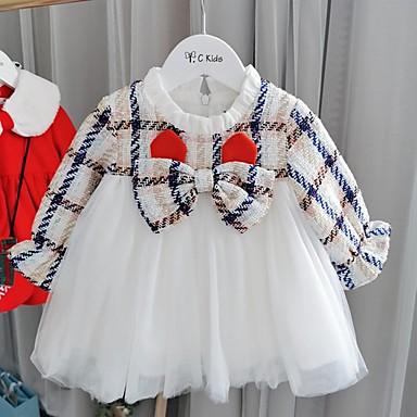 povoljno Odjeća za bebe-Dijete Djevojčice Aktivan Print Dugih rukava Haljina Obala