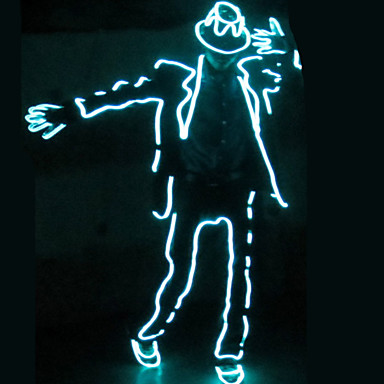 preiswerte Deko-Lichter-1 set LED-Kleidung / LED-Hut Blau AA-Batterien angetrieben Cool 5 V