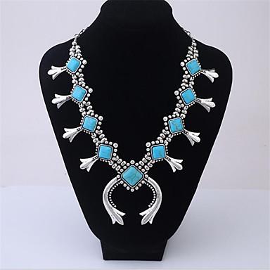povoljno Ženski nakit-Žene Tirkiz Svadbeni nakit Setovi Geometrijski Flower Shape folk stil Naušnice Jewelry Plava / Bež Za Party Praznik 1set