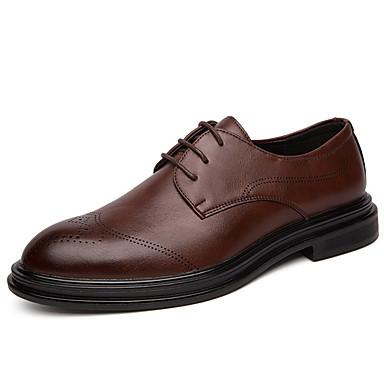Férfi Formális cipők Szintetikus Tavasz / Ősz Alkalmi / Brit Félcipők Csúszásmentes Fekete / Barna