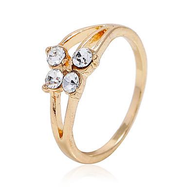 levne Dámské šperky-Dámské Prsten 1ks Zlatá Slitina Oválný Módní Denní Šperky Kytky