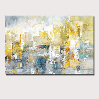 cheap Oversized Painting-Oil Painting Hand Painted - Abstract Landscape Comtemporary Modern Stretched Canvas