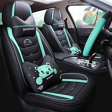 billige Interiørtilbehør til bilen-bilsete deksel fire sesonger alle lnclusiv pute tegneseriepute kompatibel med kollisjonspute 5 sitteputer tegneserieversjon med 2 nakkestøtter 2 korsrygg