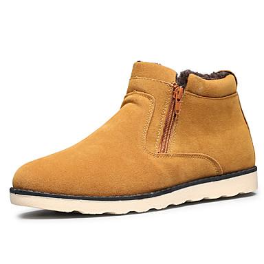 preiswerte Herrenschuhe-Herrn Komfort Schuhe PU Winter Klassisch / Freizeit Stiefel Walking warm halten Schwarz / Gelb / Blau