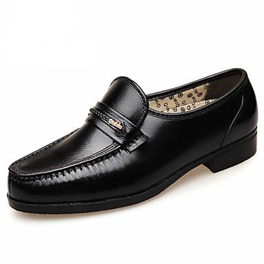 preiswerte Schuhe und Taschen-Herrn Lederschuhe Leder Frühling / Herbst Winter Britisch Loafers & Slip-Ons Walking Rutschfest Schwarz / Hochzeit / Party & Festivität