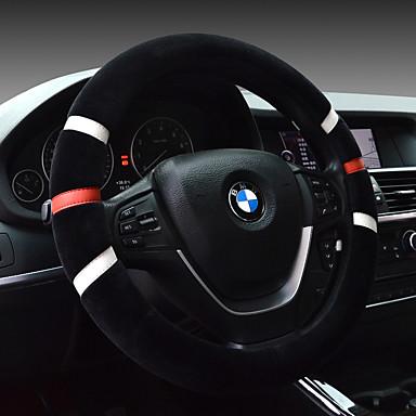 voordelige Auto-interieur accessoires-comfortabel rijdende auto stuurwiel set winter pluche universeel onderhoud kleur slijtvast kort pluche schattig