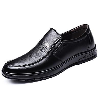 Férfi Kényelmes cipők PU Ősz Papucsok & Balerinacipők Fekete / Barna
