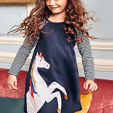 cheap Kids Collection Under $8.99-Kids Girls' Cartoon Dress Blue