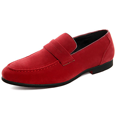 Férfi Formális cipők Szintetikus Tavasz / Ősz & tél Alkalmi / Brit Papucsok & Balerinacipők Csúszásmentes Fekete / Bor / Szürke