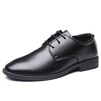 Férfi Kényelmes cipők PU Ősz Alkalmi Félcipők Csúszásmentes Fekete
