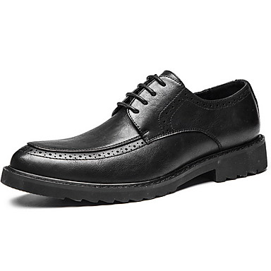 Férfi Kényelmes cipők Mikroszálas Ősz & tél Félcipők Fekete / Barna