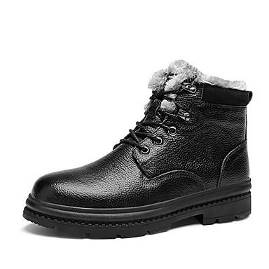 Férfi Kényelmes cipők PU Ősz & tél Csizmák Bokacsizmák Fekete