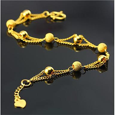 voordelige Herensieraden-Heren Dames Armbanden met ketting en sluiting meetkundig Liefde Modieus Verguld Armband sieraden Goud Voor Dagelijks Werk