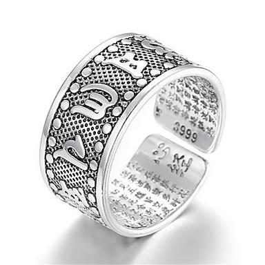levne Pánské šperky-Pánské Otevřete kruh Nastavitelný kroužek 1ks Stříbrná Měď Postříbřené Geometric Shape Jednoduchý Módní Denní Práce Šperky Klasika Drahocenný Cool