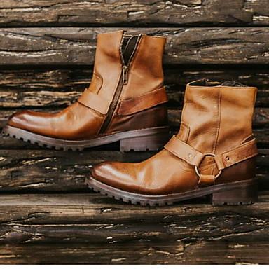 abordables Bottes Homme-Homme Cowboy / Western Boots Automne / Hiver Rétro Vintage / Britanique Quotidien Bottes Marche Polyuréthane Waterproof Preuve de l'usure Bottine / Demi Botte Jaune / Noir / Gris