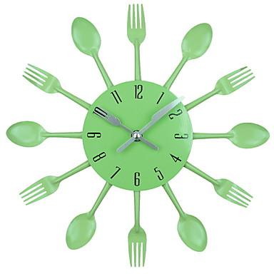 falióra konyhai evőeszközök rozsdamentes 3d levehető kés kanál villával diy óra fali tartó modern design lakberendezés