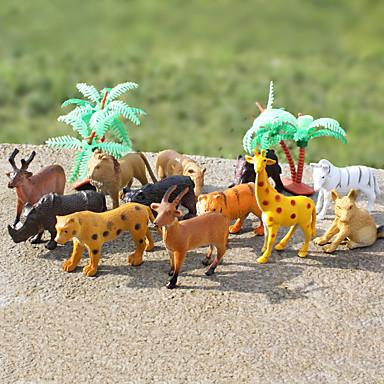 12st djuractionfigurer satt modellering elefant / babian / lejon / berg ko / get / vildsvin / igelkott