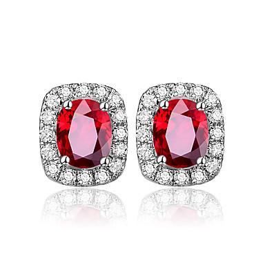 levne Dámské šperky-taška prsten módní náušnice pro ženy klasický dámský temperament stříbrný 925 šperky oválný rubín výročí dárek velkoobchod