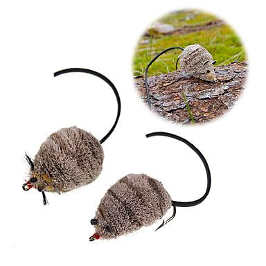 preiswerte Sport & Outdoor-1 pcs Fliegen Maus Schwimmend Bass Forelle Pike Seefischerei Fliegenfischen Fischen im Süßwasser Metal