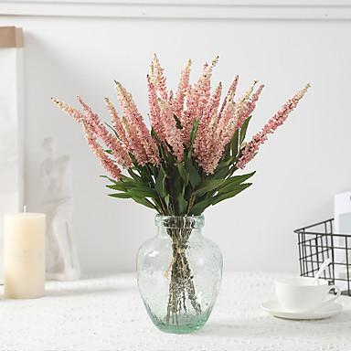 hamis virág csokor levendula lakberendezési esküvői művirág