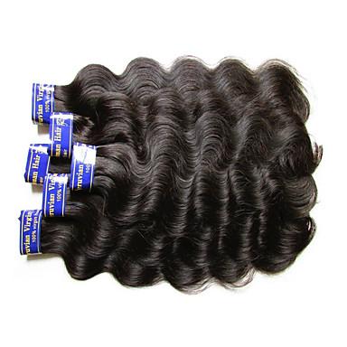 """povoljno Ekstenzije od ljudske kose-4 paketića 6 paketića Peruanska kosa Tijelo Wave Virgin kosa Netretirana  ljudske kose Ljudske kose plete 10""""~30"""" Natural Isprepliće ljudske kose Prirodno Najbolja kvaliteta Za crnkinje Proširenja"""