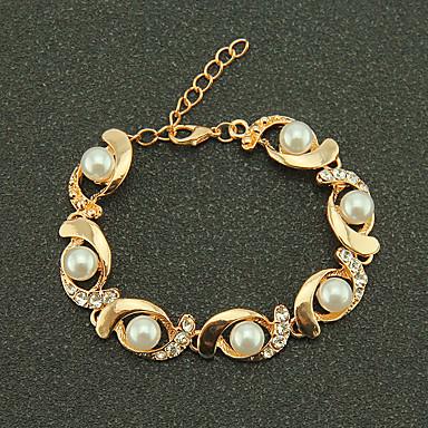 voordelige Dames Sieraden-Dames Armband kralen Bloem Elegant Legering Armband sieraden Goud / Zilver Voor Dagelijks