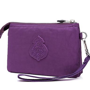 preiswerte Schuhe und Taschen-Damen Reißverschluss Nylon Unterarmtasche Volltonfarbe Purpur
