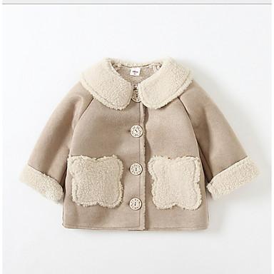 povoljno Odjeća za bebe-Dijete Djevojčice Osnovni Jednobojni Jakna i kaput Blushing Pink
