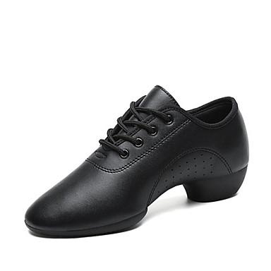 Női Dance Shoes Műbőr Jazz cipők Magassarkúk Vastag sarok Személyre szabható Fekete