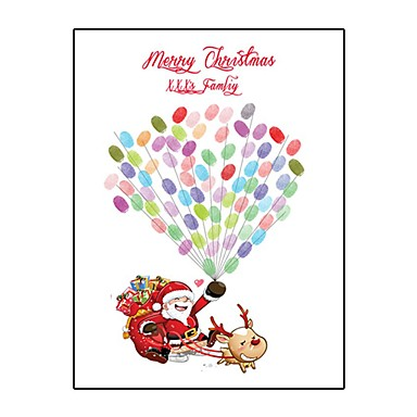 voordelige Feestbenodigdheden-Kerstmis / Festival Feestaccessoires Op gespannen doek Met patroon Kangas Kerstmis / Tuin Thema / Klassiek Thema