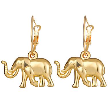 povoljno Modne naušnice-Žene Okrugle naušnice Vintage Style Slon Naušnice Jewelry Zlato Za Dnevno Klub Festival 1 par