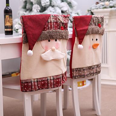 preiswerte Urlaub-Stuhlabdeckung Mehrfarbig Gesteppt Polyester / Baumwoll Mischung Überzüge