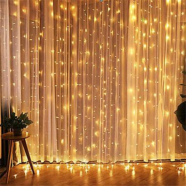 povoljno Vjenčanje-1pcs 3 * 3m led icicle vodio zavjese vila stringllight vilinsko svjetlo 300 vodio božićno svjetlo za vjenčanje ukrasne kuće za dom prozora