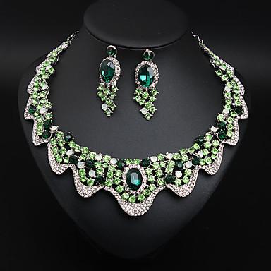 Žene Kristal Svadbeni nakit Setovi fantazija Cvijet Statement Šarene Naušnice Jewelry Bright Red / Svjetlosmeđ / Zelen Za Vjenčanje Party 1set