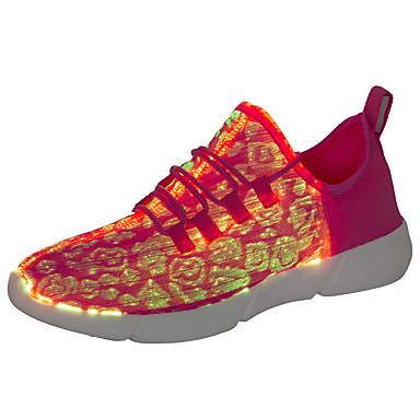 preiswerte Herrenschuhe-Unisex Leuchten Schuhe Kunststoff Herbst Winter Sneakers Schwarz / Weiß / Rosa