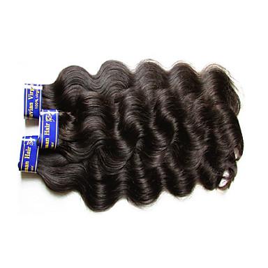 """povoljno Ekstenzije od ljudske kose-3 paketa Peruanska kosa Tijelo Wave Virgin kosa Netretirana  ljudske kose Ljudske kose plete 10""""~30"""" Natural Isprepliće ljudske kose Prirodno Najbolja kvaliteta Za crnkinje Proširenja ljudske kose"""