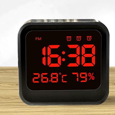 digitális ébresztőóra led képernyővel&időkijelző, éjjeliszekrény utazási óra, monitor hőmérsékleti páratartalom