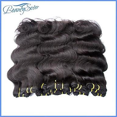 """povoljno Ekstenzije za kosu-2 Paketi 4 paketića 6 paketića Brazilska kosa Ravan kroj Tijelo Wave Ljudska kosa tkati 8""""~24"""" Natural Isprepliće ljudske kose Žene proširenje Za crnkinje Proširenja ljudske kose / neprerađenih"""