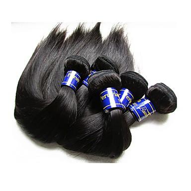 """povoljno Ekstenzije od ljudske kose-5 paketića Peruanska kosa Ravan kroj Virgin kosa Netretirana  ljudske kose Ljudske kose plete 10""""~30"""" Natural Isprepliće ljudske kose Prirodno Najbolja kvaliteta Za crnkinje Proširenja ljudske kose"""