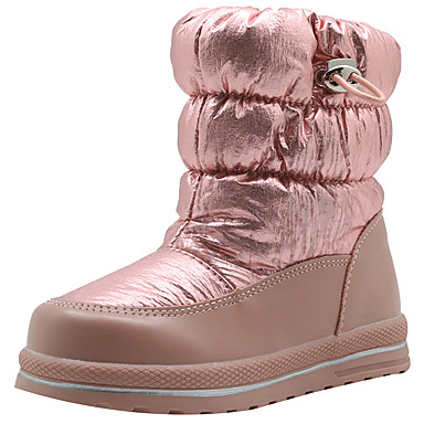 preiswerte Schuhe für Kinder-Mädchen Schneestiefel PU Stiefel Kleine Kinder (4-7 Jahre) Silber / Rosa / Grau Winter
