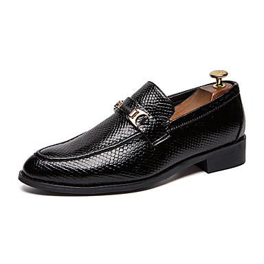 Férfi Kényelmes cipők PU Ősz Alkalmi Papucsok & Balerinacipők Csúszásmentes Fekete / Barna / Piros