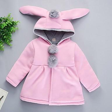 preiswerte Kapuzenpullover & Sweatshirts für Babys-Baby Mädchen Grundlegend Solide Langarm Baumwolle Jacke & Mantel Rosa