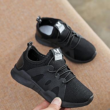 preiswerte Schuhe für Kinder-Jungen Komfort Gitter Sportschuhe Kleine Kinder (4-7 Jahre) Schwarz / Weiß / Rot Sommer
