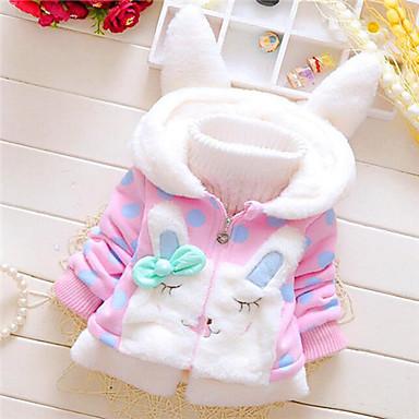 povoljno Majice za bebe-Dijete Djevojčice Osnovni Bijela / Plava / Rabbit Print Dugih rukava Bluza Svjetloplav