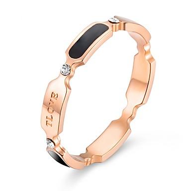 voordelige Dames Sieraden-Dames Bandring Ring 1pc Goud Rose Titanium Staal Stijlvol Standaard Casual / Sporty Lahja Dagelijks Sieraden