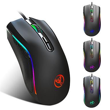 cheap Mice-HXSJ A869 Wired USB Optical Gaming Mouse / Ergonomic Mouse RGB Breathing Light 1000/1200/2400/3200/4800/7200 dpi 6 Adjustable DPI Levels 7 Keys