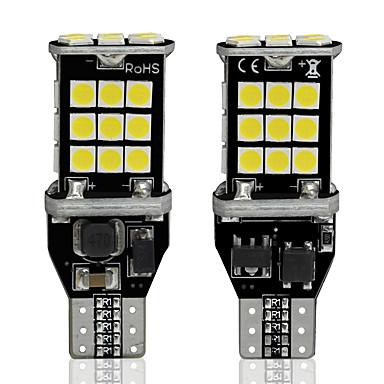 2db w16w led t15 canbus autó led lámpák 3030 30 smd led 6000k automatikus led fehér fék lámpa tartalék hátsó lámpák 12v