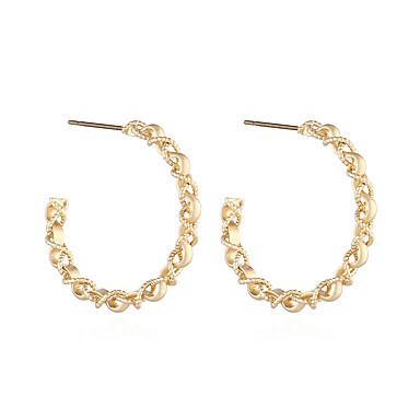 Női Francia kapcsos fülbevalók Fülbevaló Retro Twist Kör Egyszerű Vintage Európai Divat Fülbevaló Ékszerek Aranyozott Kompatibilitás Napi Színpad Szabadság Munka Bár 1 pár